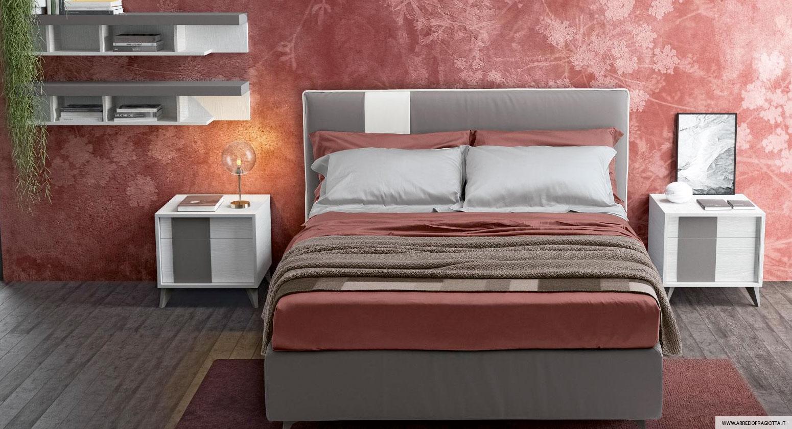 Tetris grigio Colombini camera da letto