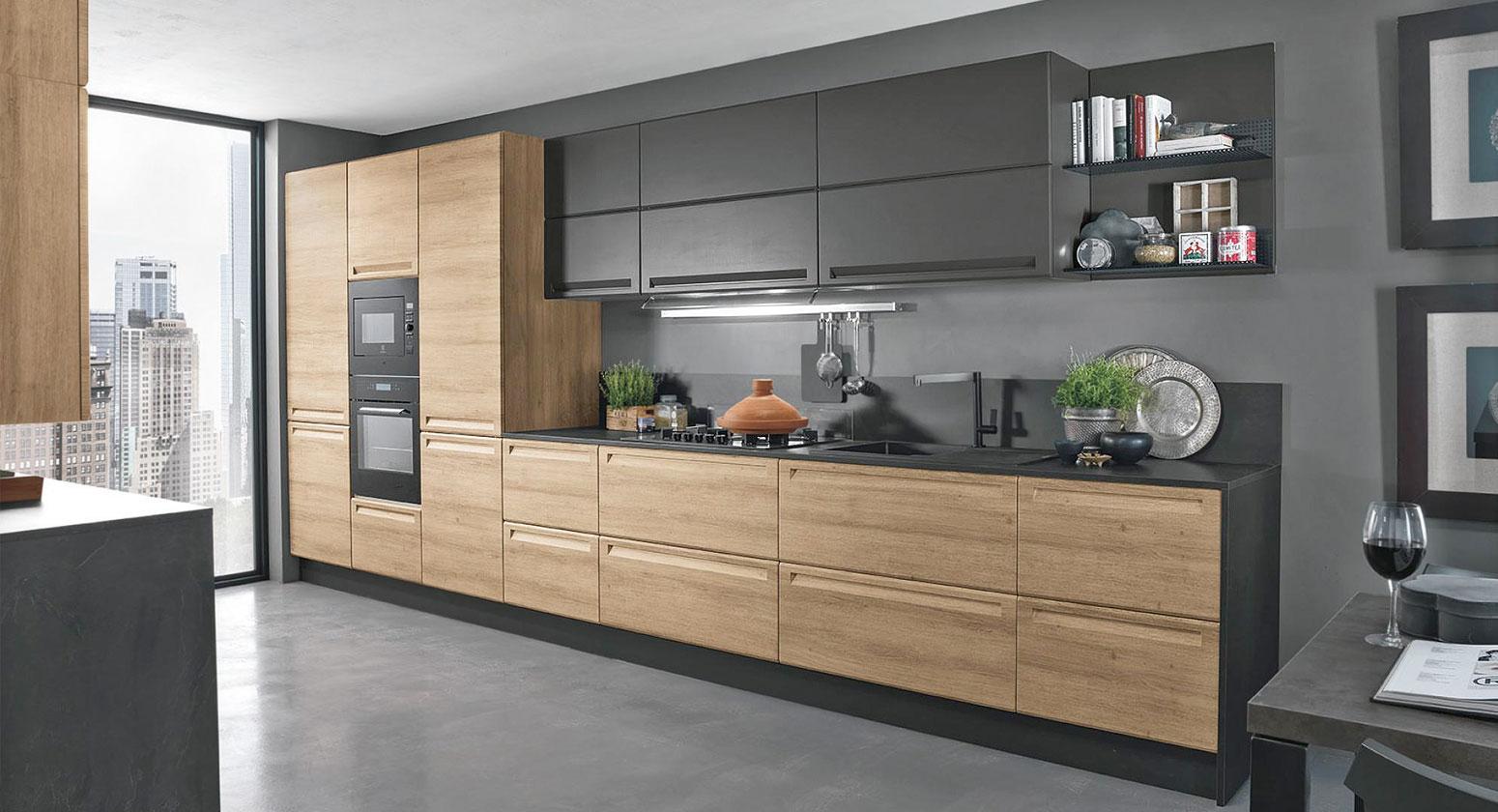 Cucine moderne cucina isla legno for Cucine moderne scure