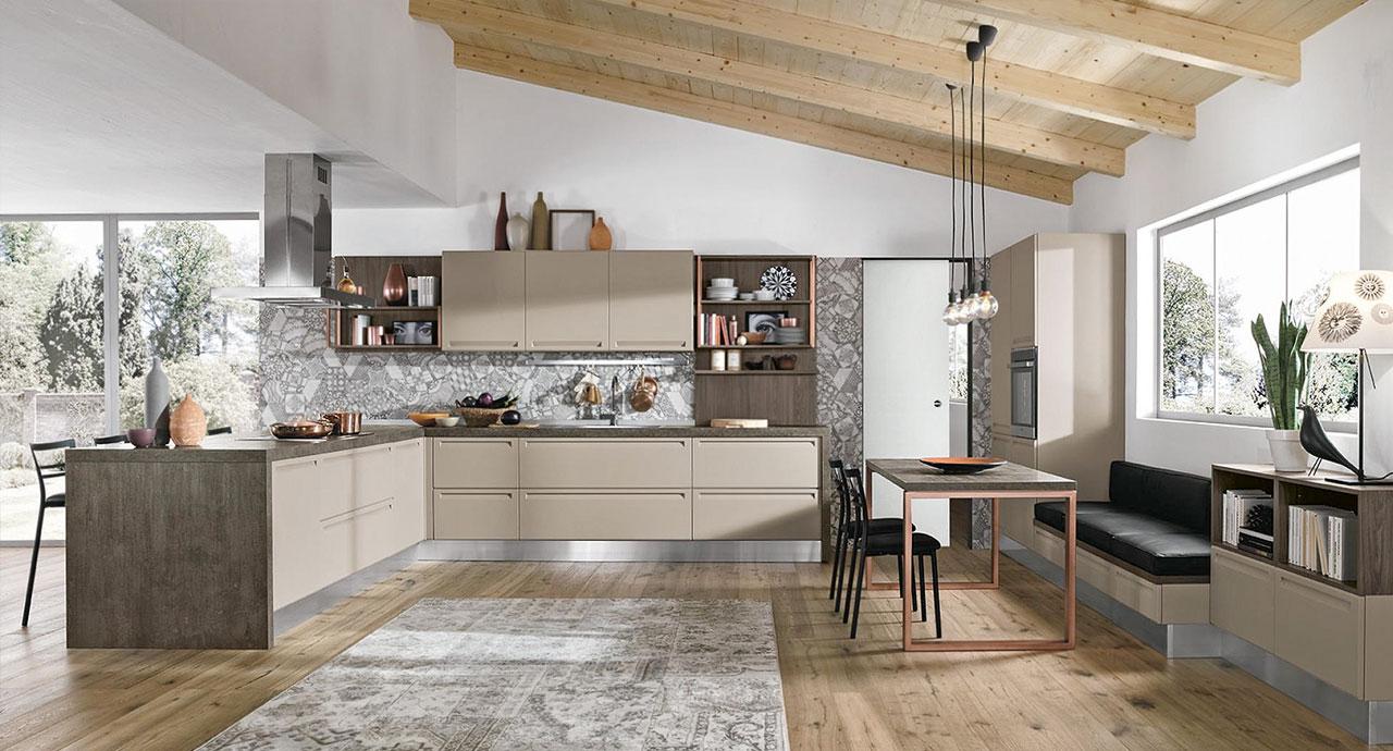 Cucine moderne: Cucina isla angolare.