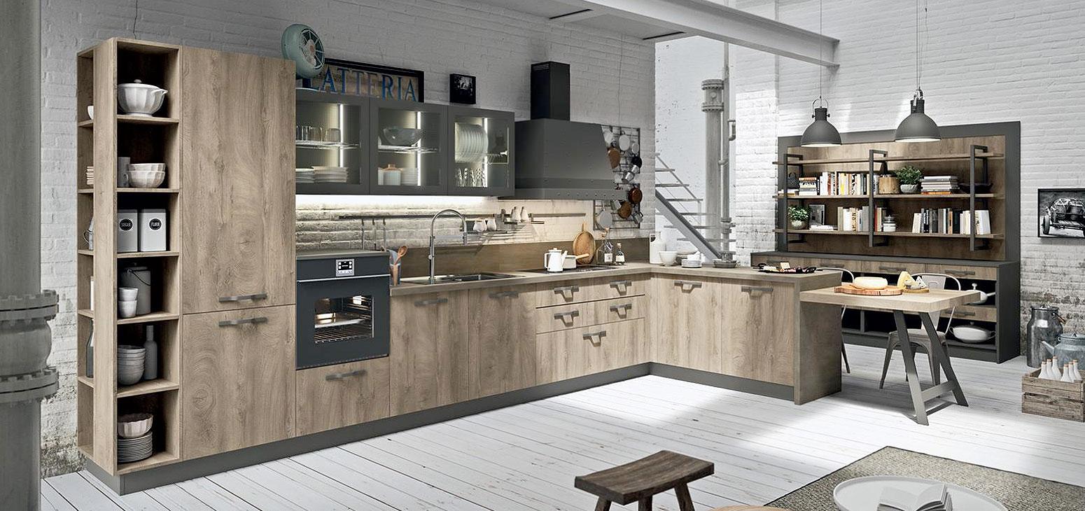 Cucine moderne: Cucina Industrial Kitchen