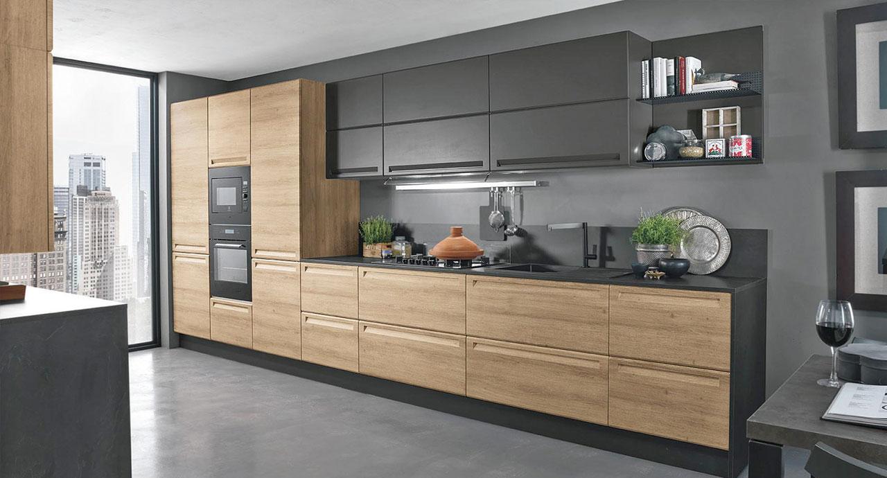 Cucine moderne: Cucina Isla legno