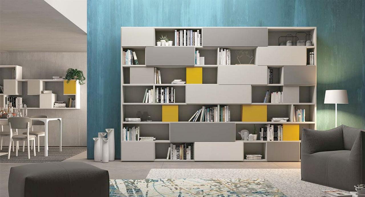Soggiorni Moderni Colombini.Soggiorno Moderno Library 30 A Terra Colombini