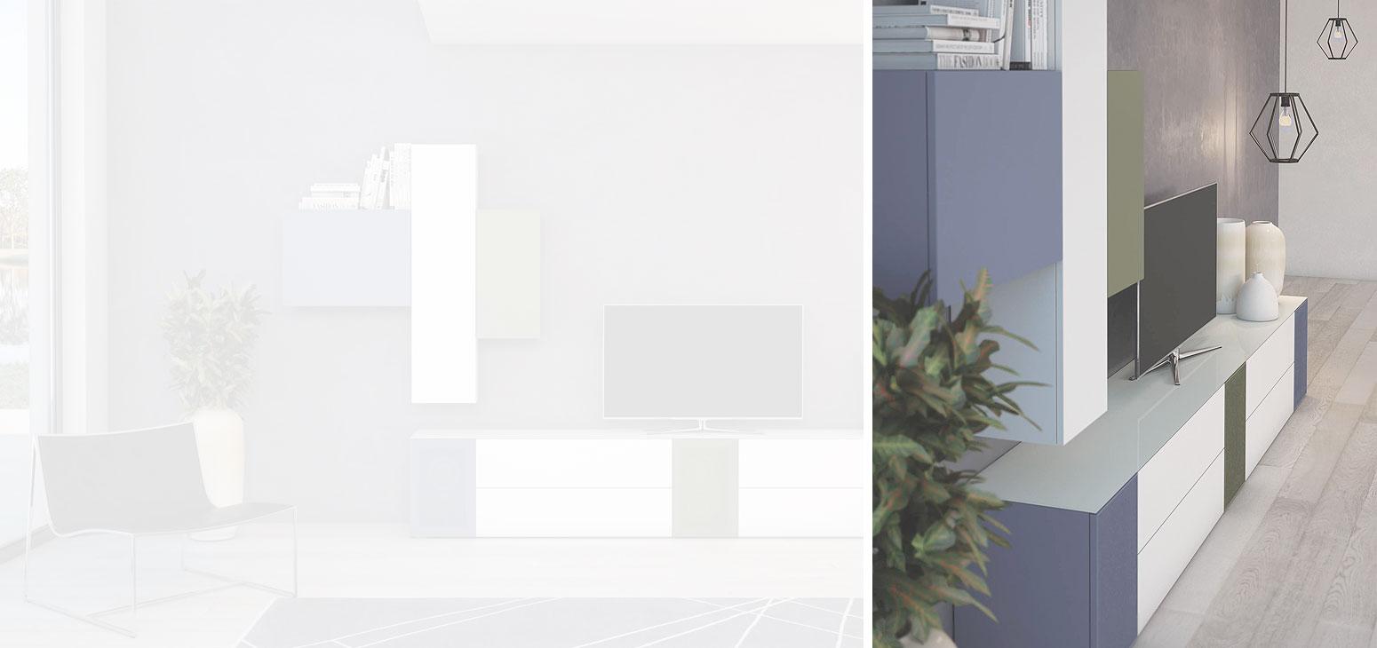 Soggiorni moderni: Soggiorno moderno Tetris