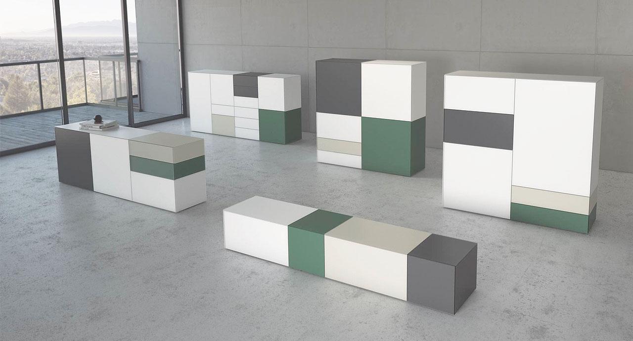 Soggiorni moderni soggiorno moderno tetris